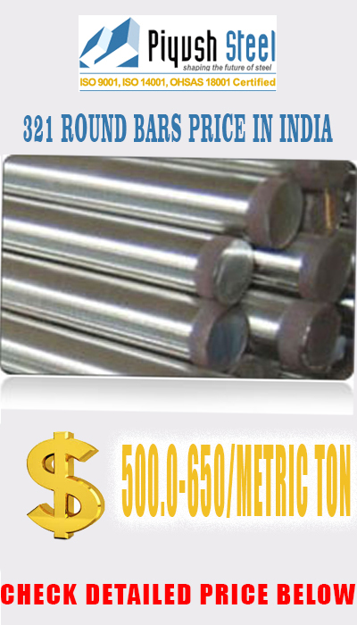 ASTM A276 AISI 321 STAINLESS STEEL ROUND BARS